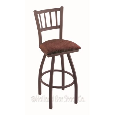 Contessa 30 Swivel Bar Stool Finish: Bronze, Upholstery: Axis Paprika