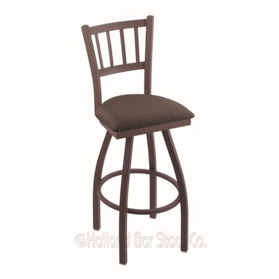 Contessa 25 Swivel Bar Stool Finish: Bronze, Upholstery: Axis Truffle