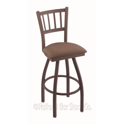Contessa 30 Swivel Bar Stool Finish: Bronze, Upholstery: Axis Willow