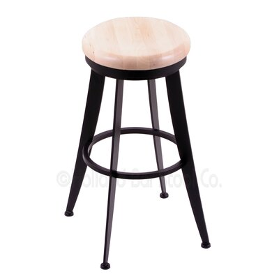 Laser 30 Swivel Bar Stool Upholstery: Natural Maple