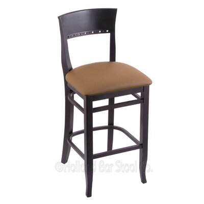 30 Bar Stool Finish: Black, Upholstery: Allante Beechwood