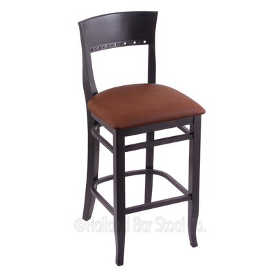 25 Bar Stool Finish: Black, Upholstery: Rein Adobe