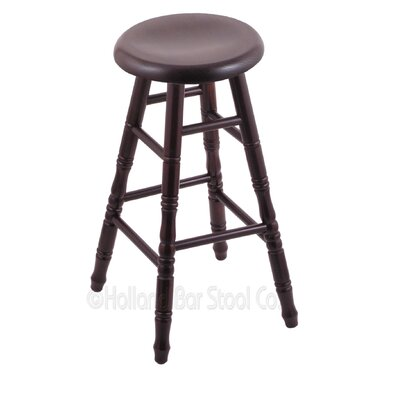 24 Swivel Bar Stool Finish: Dark Cherry Maple