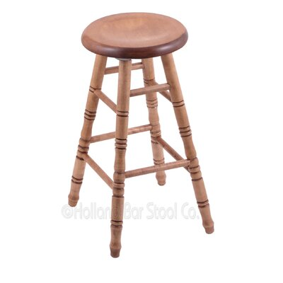 24 Swivel Bar Stool Finish: Medium Maple