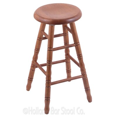 30 Swivel Bar Stool Finish: Medium Oak