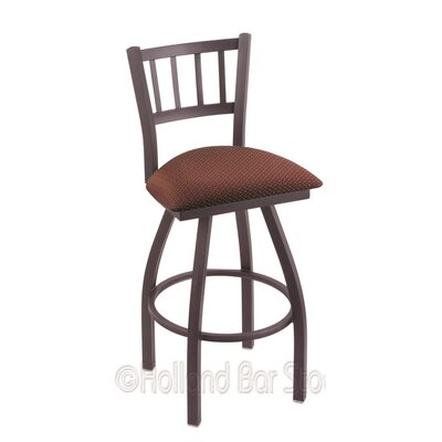 Contessa 25 Swivel Bar Stool Finish: Pewter, Upholstery: Axis Paprika