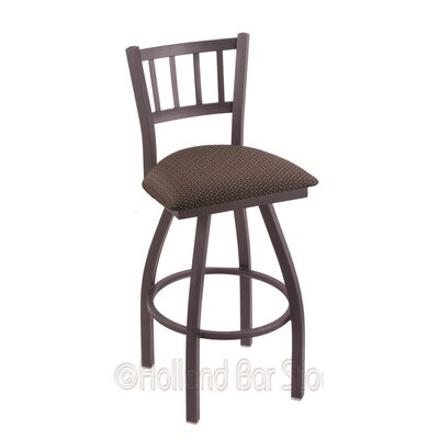 Contessa 36 inch Swivel Bar Stool Finish: Pewter, Upholstery: Axis Truffle