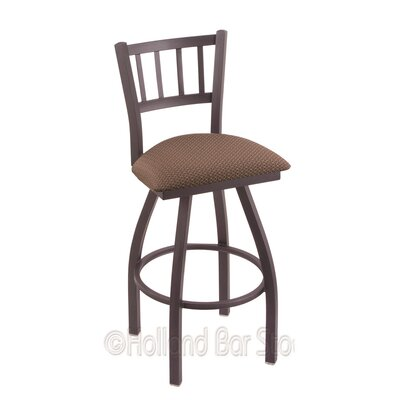 Contessa 36 inch Swivel Bar Stool Finish: Pewter, Upholstery: Axis Willow