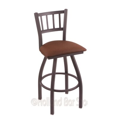 Contessa 25 Swivel Bar Stool Finish: Pewter, Upholstery: Rein Adobe