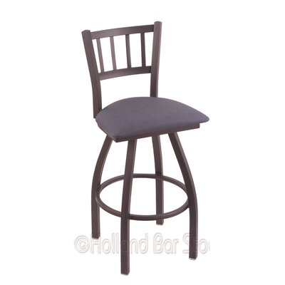 Contessa 25 Swivel Bar Stool Finish: Pewter, Upholstery: Rein Bay