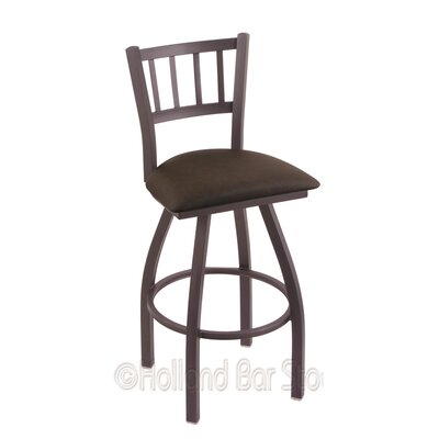 Contessa 30 Swivel Bar Stool Finish: Pewter, Upholstery: Rein Coffee