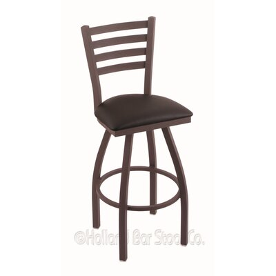 Jackie 36 Swivel Bar Stool Finish: Bronze, Upholstery: Allante Espresso