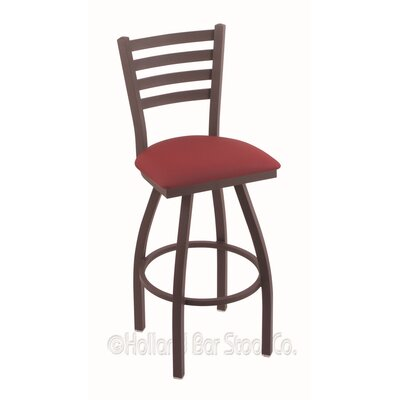 Jackie 36 Swivel Bar Stool Finish: Bronze, Upholstery: Allante Wine