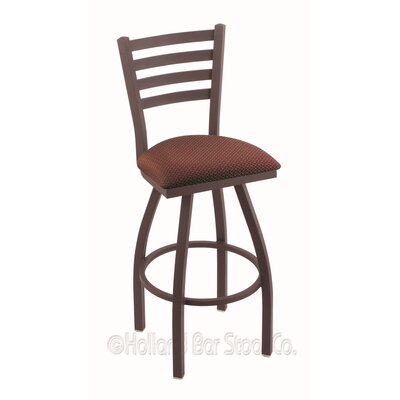 Jackie 25 Swivel Bar Stool Finish: Bronze, Upholstery: Axis Paprika