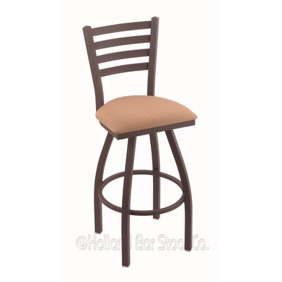 Jackie 25 Swivel Bar Stool Finish: Bronze, Upholstery: Axis Summer