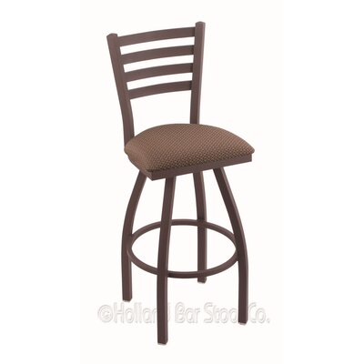Jackie 25 Swivel Bar Stool Finish: Bronze, Upholstery: Axis Willow