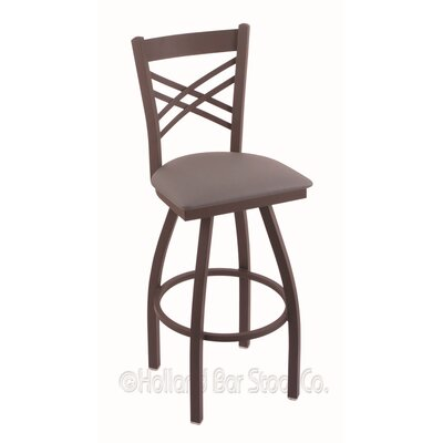Catalina 36 Swivel Bar Stool Finish: Bronze, Upholstery: Allante Medium Grey