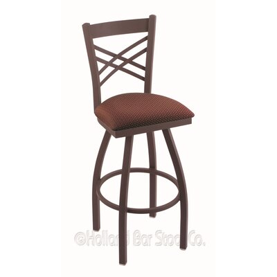 Catalina 36 Swivel Bar Stool Finish: Bronze, Upholstery: Axis Paprika