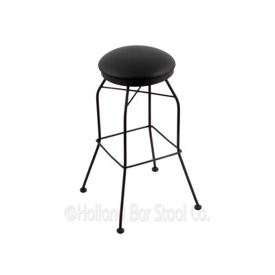 25 Swivel Bar Stool Upholstery: Black Vinyl