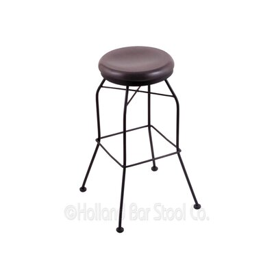 25 Swivel Bar Stool Upholstery: Dark Cherry Oak