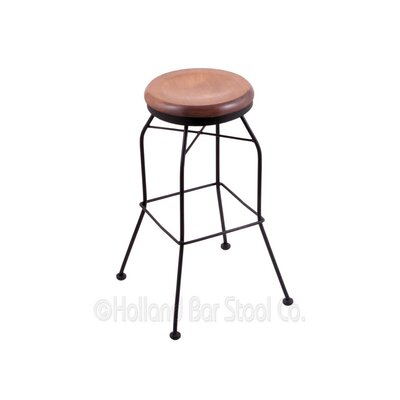 25 Swivel Bar Stool Upholstery: Medium Maple