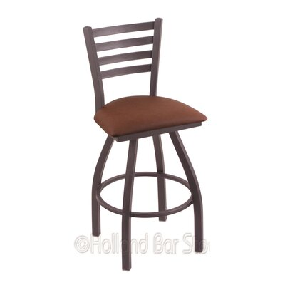 Jackie 25 Swivel Bar Stool Finish: Pewter, Upholstery: Rein Adobe