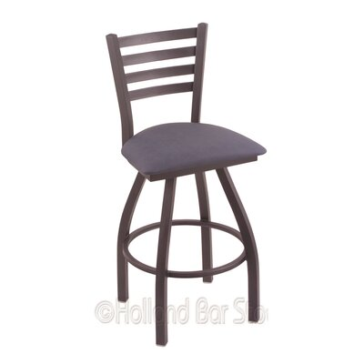 Jackie 25 Swivel Bar Stool Finish: Pewter, Upholstery: Rein Bay