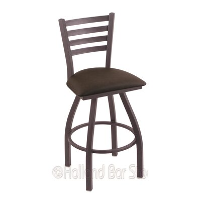 Jackie 30 Swivel Bar Stool Finish: Pewter, Upholstery: Rein Coffee