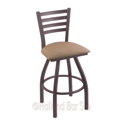 Jackie 36 Swivel Bar Stool Finish: Pewter, Upholstery: Rein Thatch