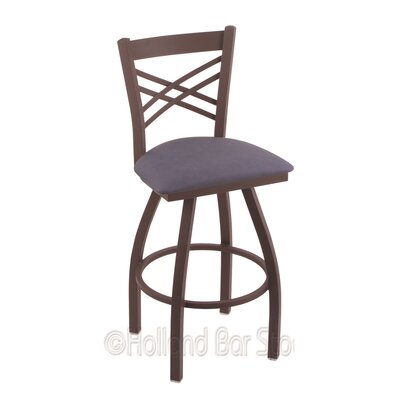 Catalina 25 Swivel Bar Stool Finish: Bronze, Upholstery: Rein Bay