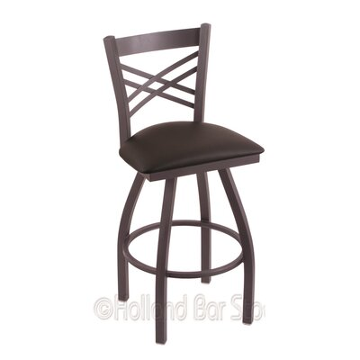 Catalina 30 Swivel Bar Stool Finish: Pewter, Upholstery: Allante Espresso