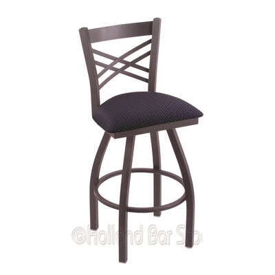 Catalina 25 Swivel Bar Stool Finish: Pewter, Upholstery: Axis Denim