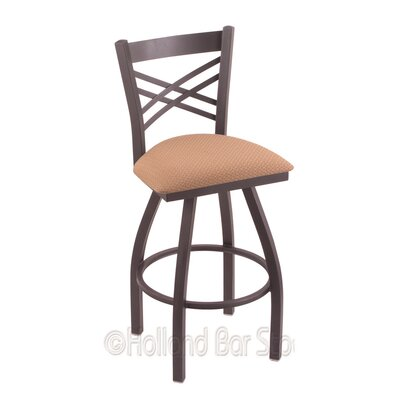 Catalina 25 Swivel Bar Stool Finish: Pewter, Upholstery: Axis Summer