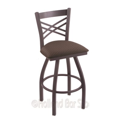 Catalina 25 Swivel Bar Stool Finish: Pewter, Upholstery: Axis Truffle
