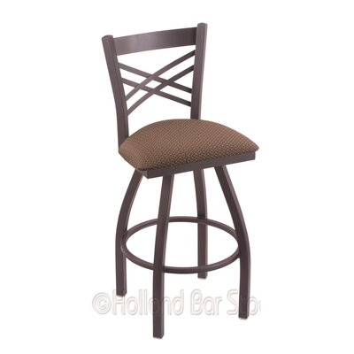 Catalina 25 Swivel Bar Stool Finish: Pewter, Upholstery: Axis Willow