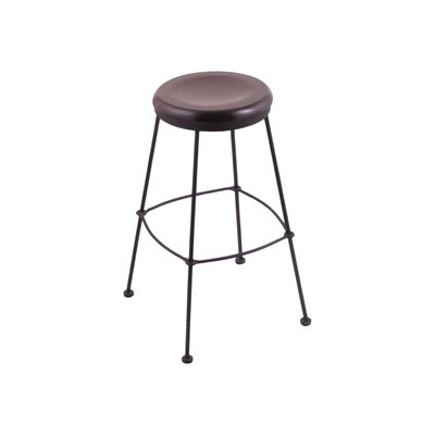 25 Bar Stool Upholstery: Dark Cherry Maple