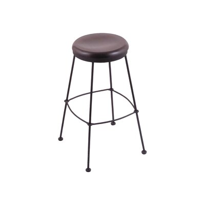 25 Bar Stool Upholstery: Dark Cherry Oak