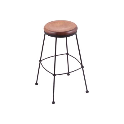 25 Bar Stool Upholstery: Medium Maple