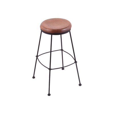 25 Bar Stool Upholstery: Medium Oak