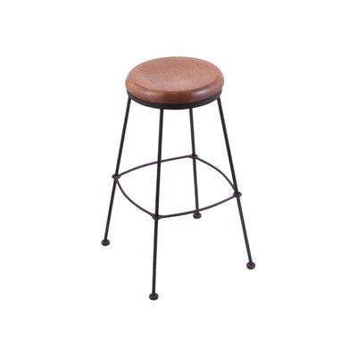 25 Bar Stool Upholstery: Medium Oak