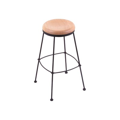 25 Bar Stool Upholstery: Natural Oak