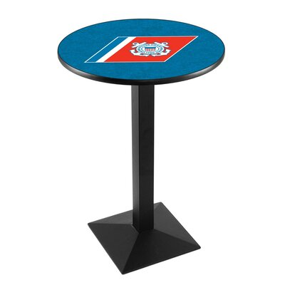 Military Pub Table Team: United States Coast Guard, Color: Black Wrinkle