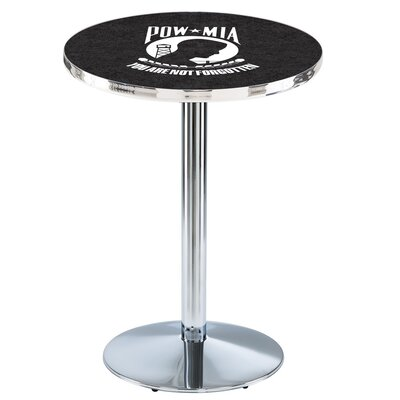 Military 42 Pub Table Team: POW-MIA, Finish: Chrome