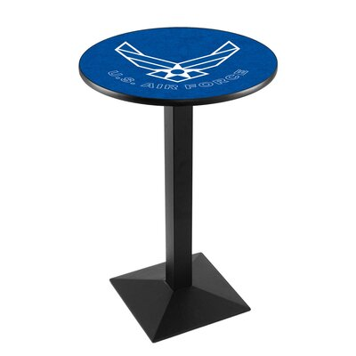Military Pub Table Team: United States Air Force, Finish: Black Wrinkle