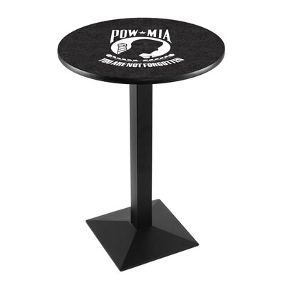 Military Pub Table Team: POW-MIA, Finish: Black Wrinkle