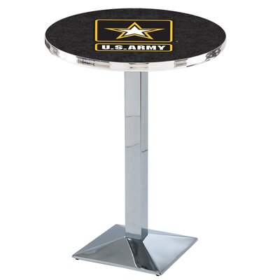 Military Pub Table Team: United States Army, Finish: Chrome