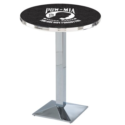 Military Pub Table Team: POW-MIA, Color: Chrome