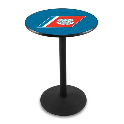 Military 42 Pub Table Team: United States Coast Guard, Color: Black Wrinkle