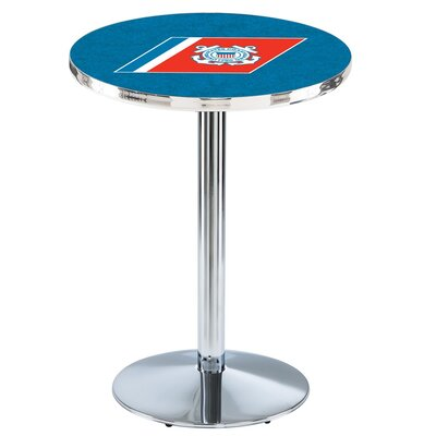 Military 36 Pub Table Team: United States Coast Guard, Finish: Chrome