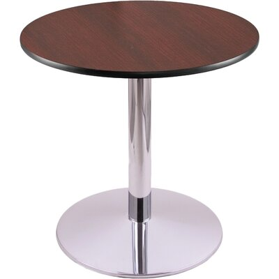 30 Pub Table Tabletop Size: 24 Dia, Finish: Chrome